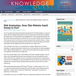 Web Evaluation: Does This Website Smell Funny to You?