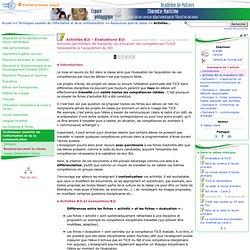 Activités B2i - Évaluations B2i- Pédagogie - Direction des services départementaux de l'éducation nationale du 17