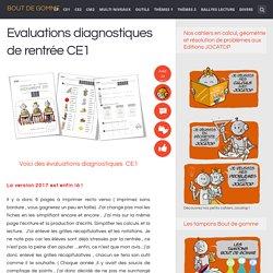 Evaluations diagnostiques de rentrée CE1