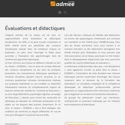 Évaluations et didactiques