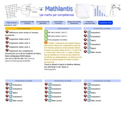 Evaluations, outils - Mathlantis