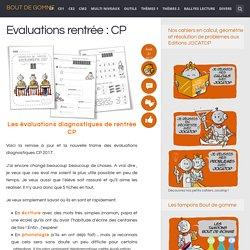 Evaluations rentrée : CP