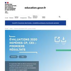 Évaluations 2020 Repères CP, CE1