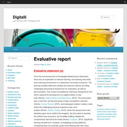 Evaluative report