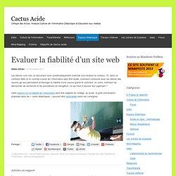 Evaluer la fiabilité d'un site web