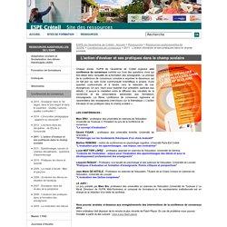 2011 - L'action d'évaluer et ses pratiques dans le champ scolaire