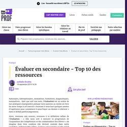oct Évaluer en secondaire - Top 10 des ressources