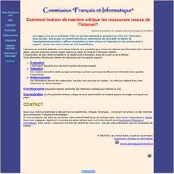 Evaluer la validité des informations tirées du web