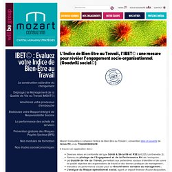 IBET© : Evaluez votre Indice de Bien-Être au Travail - Mozart Consulting