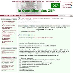 OZP : Evaluons l'EP ! Eléments d'aide à l'auto-évaluation des projets REP(...)