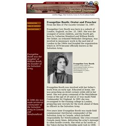 Evangeline Booth: Orator and Preacher: Memorial University's Archival Treasures