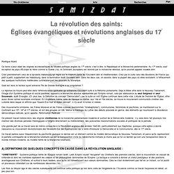 Églises évangéliques et révolutions anglaises du 17e siècle