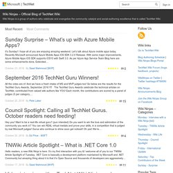 Wiki Ninjas – Official Blog of TechNet Wiki
