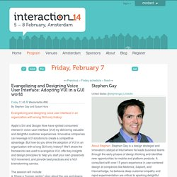Evangelizing And Designing Voice User Interface - Friday - Program - Interaction14