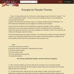 Evangile du Pseudo-Thomas