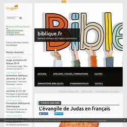 L'évangile de Judas en français - biblique.fr