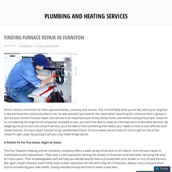 Finding Furnace Repair in Evanston
