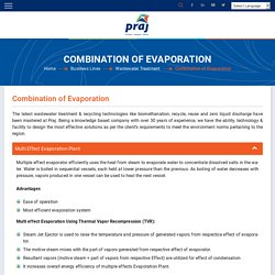 Wastewater Treatment Using Evaporation