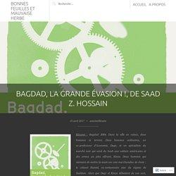 Bagdad, la grande évasion ! (Bonnes feuilles et mauvaise herbe)