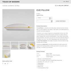 Eve Pillow (1 Pillow) - eve Mattress