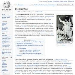 Éveil spirituel/ Wikipedia