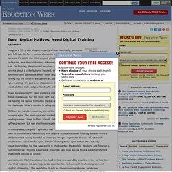 Even 'Digital Natives' Need Digital Training