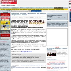 Mobility for Business : l'événement des solutions et applications mobiles