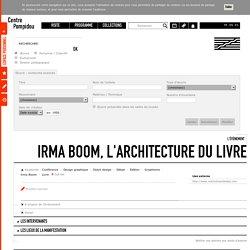 L'évènement Irma Boom, l'architecture du livre