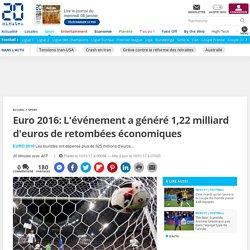 Euro 2016: L'événement a généré 1,22 milliard d'euros de retombées économiques