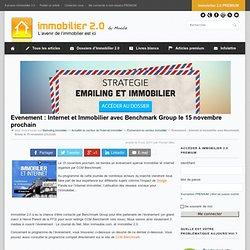Evenement : Internet et Immobilier avec Benchmark Group le 15 novembre prochain