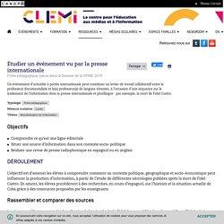 Étudier un événement vu par la presse internationale- CLEMI