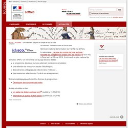 Un événement : La prise en compte de l'oral au lycée-Lettres-Éduscol