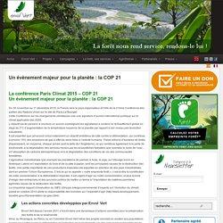 Un évènement majeur pour la planète: la COP 21