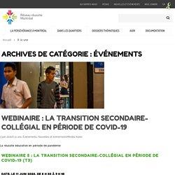 Événements Archives - Réseau réussite Montréal
