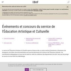 Événements et concours du service de l'Éducation Artistique et Culturelle