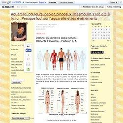 Dessiner ou peindre le corps humain – Eléments d'anatomie – Partie n° 1 / 5