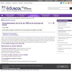 Événements et concours - Commémoration de la loi de 1905 et du principe de laïcité
