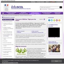 """Événements et concours - Concours d'affiches """"Agis pour tes droits"""" - Éduscol"""