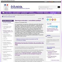 Actualités du numérique - Opening up education : une consultation publique sur les TICE en Europe