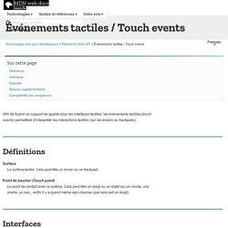 Événements tactiles / Touch events - Guides pour développeurs Web