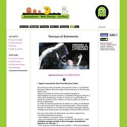 Concours de nouvelles & Evènements litteraires
