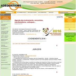 Agenda du développement durable. Evénements, rencontres, manifestations, colloques...