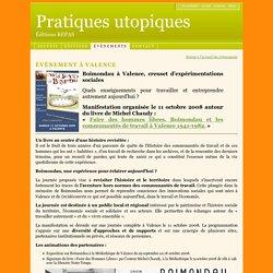 Editions REPAS - Edition REPAS - Evènements Exposition sur Boimondau à la Médiathèque de Valence