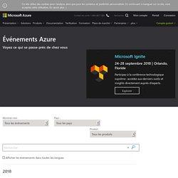 Événements Microsoft Azure