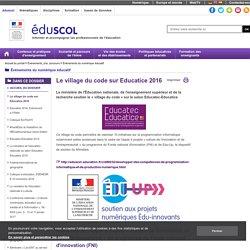 Événements du numérique éducatif - Le village du code sur Educatice 2016