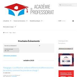Prochains Évènements – Page 3 – Académie du Professorat