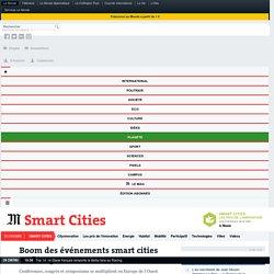 Boom des événements smart cities en Europe