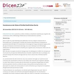 Soutenance de thèse d'Orélie Desfriches Doria