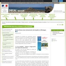 Etude Vimers des événements de tempête en Bretagne