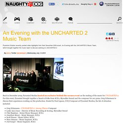 An Evening with the UNCHARTED 2 Music Team